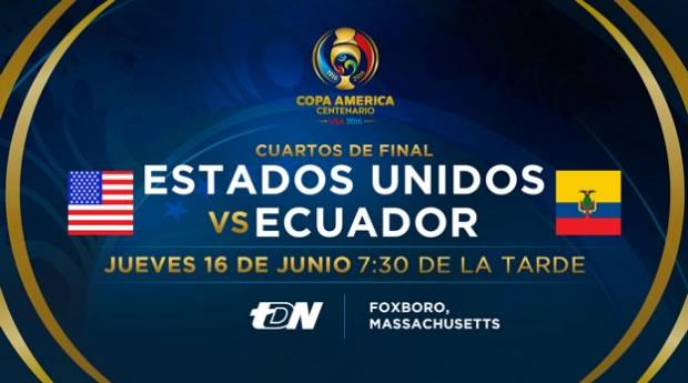 Estados Unidos vs Ecuador, Copa América 2016 | Resultado: 2-1 - eua-vs-ecuador-en-vivo-cuartos-copa-america-2016