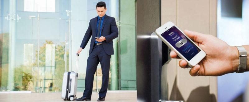 llave digital 800x328 Tecnología que permite que el smartphone sea la llave de la habitación
