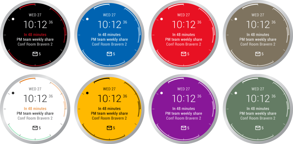 Outlook para Android Wear se actualiza con watch faces - outlook-watchface