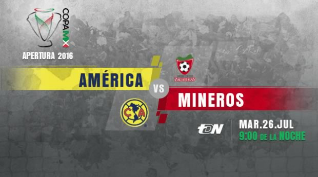 América vs Mineros, Copa MX Apertura 2016   Resultado: 4-1 - america-vs-mineros-en-vivo-copa-mx-apertura-2016