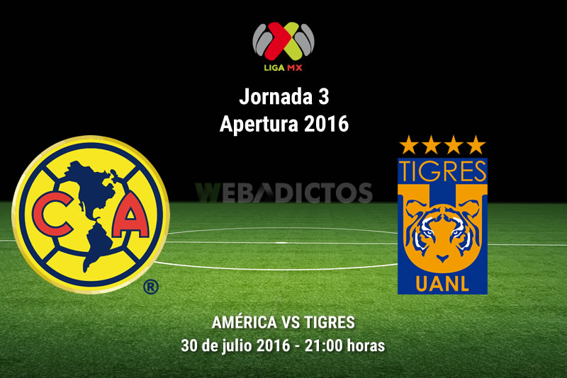 América vs Tigres, J3 del Apertura 2016   Resultado: 0-3 - america-vs-tigres-apertura-2016