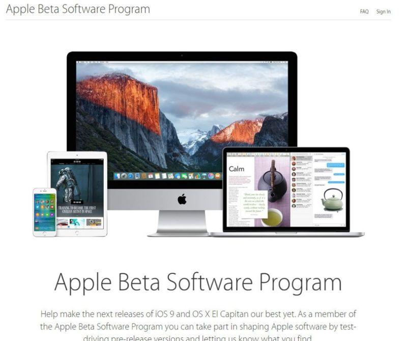 Apple libera las primeras betas públicas de iOS 10 y macOS Sierra - apple_beta_software_program