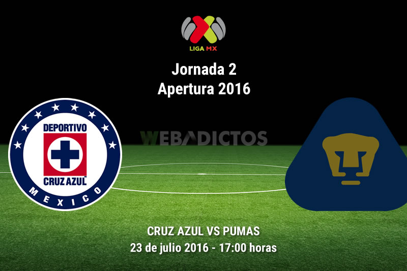 Cruz Azul vs Pumas, J2 del Apertura 2016 | Resultado: 0-0 - cruz-azul-vs-pumas-apertura-2016