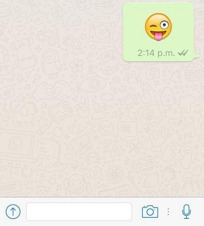 WhatsApp se actualiza con emojis gigantes y una sorpresa para JJOO Río 2016 - emoji-gigante-whatsapp