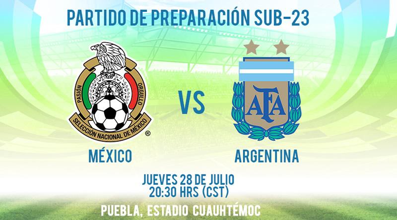A qué hora juega México vs Argentina Sub 23 su partido amistoso previo a Rio 2016 - hora-mexico-vs-argentina-sub-23-amistoso-2016