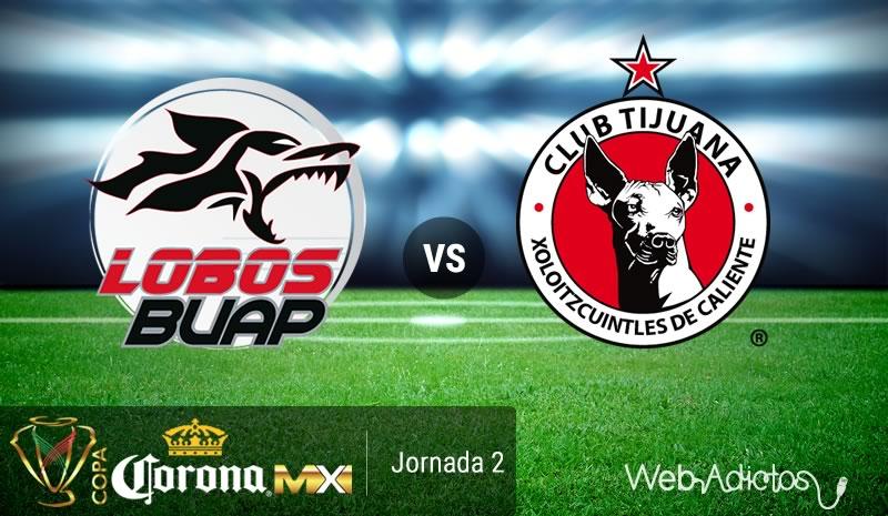 Lobos BUAP vs Tijuana, J2 de la Copa MX Apertura 2016 | Resultado: 4-0 - lobos-buap-vs-tijuana-copa-mx-apertura-2016