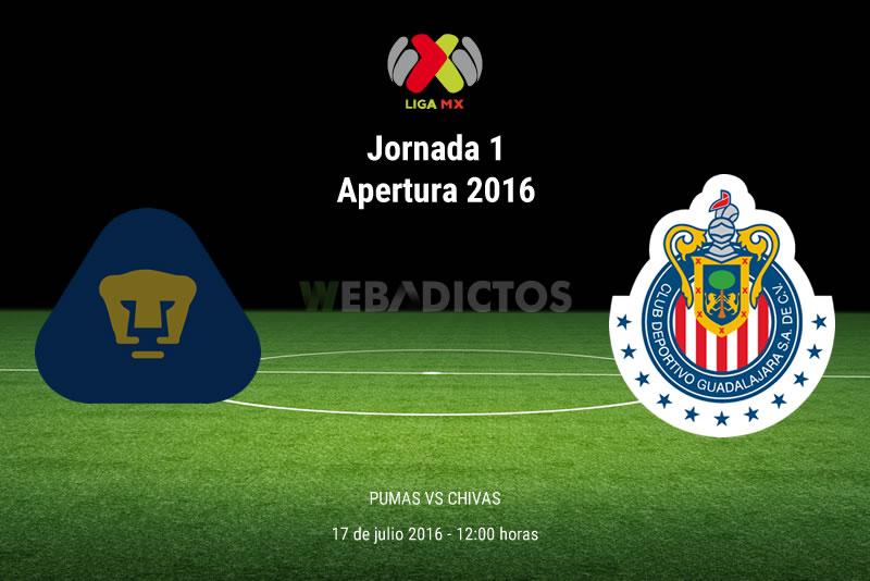 Pumas vs Chivas, Jornada 1 del Apertura 2016 | Resultado: 1-0 - pumas-vs-chivas-apertura-2016