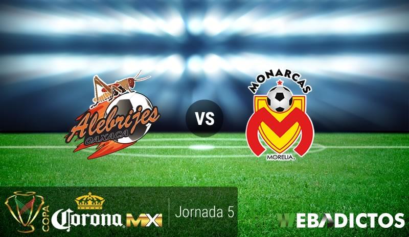 Oaxaca vs Morelia, J5 de Copa MX Apertura 2016 | Resultado: 2-1 - alebrijes-oaxaca-vs-morelia-j5-copa-mx-apertura-2016