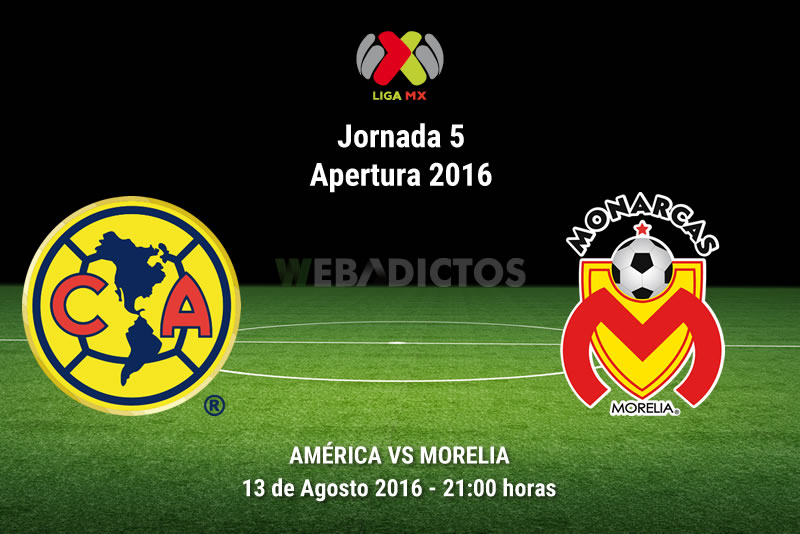 América vs Morelia, J5 de la Liga MX Apertura 2016 | Resultado: 1-1 - america-vs-morelia-apertura-2016