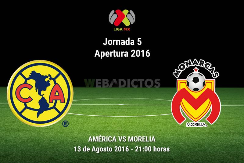América vs Morelia, J5 de la Liga MX Apertura 2016   Resultado: 1-1 - america-vs-morelia-apertura-2016