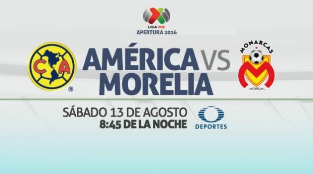 América vs Morelia, J5 de la Liga MX Apertura 2016 | Resultado: 1-1 - america-vs-morelia-en-vivo-liga-mx-apertura-2016