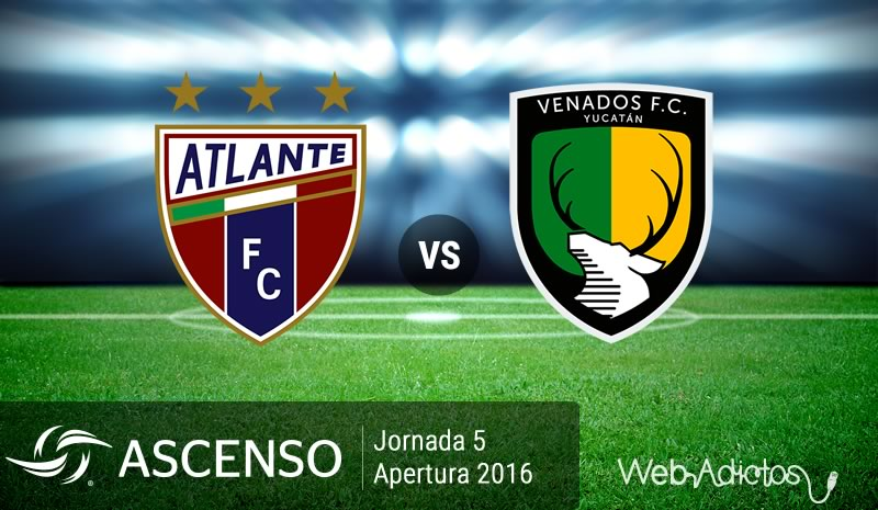 Atlante vs Venados, Jornada 5 Ascenso MX A2016 | Resultado: 1-1 - atlante-vs-venados-ascenso-mx-apertura-2016