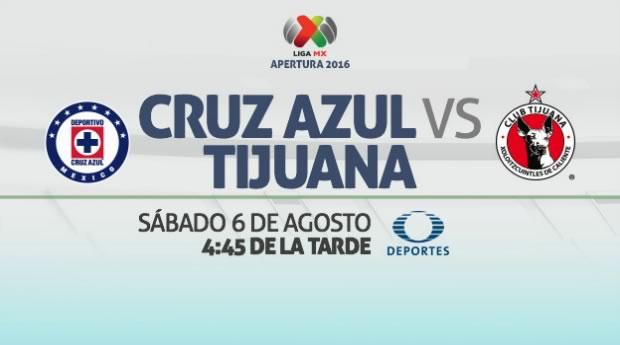 Cruz Azul vs Tijuana, Jornada 4 del Apertura 2016 | Resultado: 1-2 - cruz-azul-vs-tijuana-en-vivo-apertura-2016