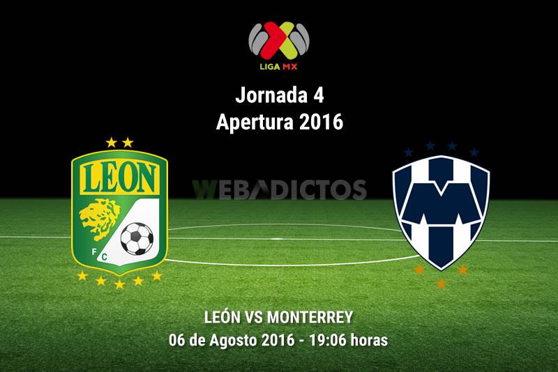 León vs Monterrey, Jornada 4 del Apertura 2016 | Resultado: 0-3 - leon-vs-monterrey-apertura-2016