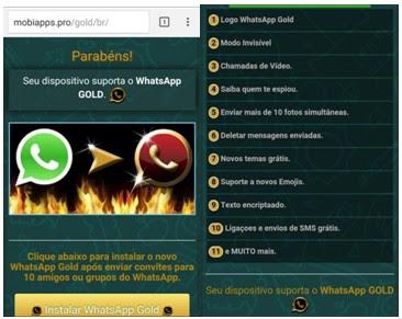 WhatsApp Gold infecta usuarios mexicanos a través de ingeniería social - pantallas-de-direccionamiento