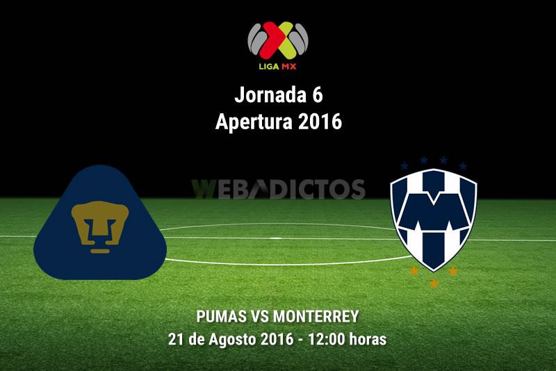Pumas vs Monterrey, Liga MX Apertura 2016 | Resultado: 5-3 - pumas-vs-monterrey-jornada-6-apertura-2016