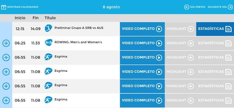 Ve la repetición de las competencias de Río 2016 en tus dispositivos ¡Cuando quieras! - repeticiones-de-rio-2016