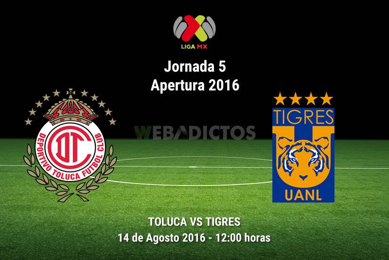 Toluca vs Tigres, Jornada 5 del Apertura 2016 | Resultado: 0-0 - toluca-vs-tigres-apertura-2016
