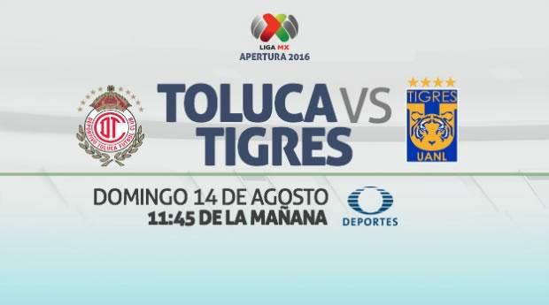 Toluca vs Tigres, Jornada 5 del Apertura 2016 | Resultado: 0-0 - toluca-vs-tigres-en-vivo-liga-mx-apertura-2016