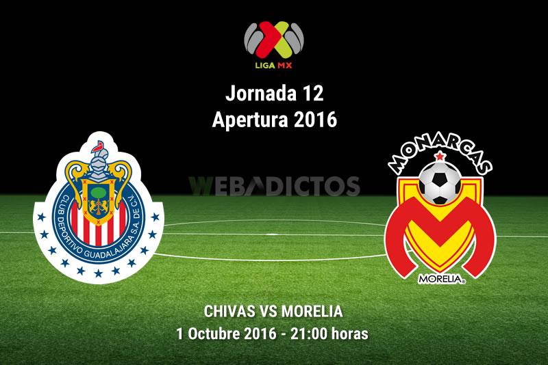 Chivas vs Morelia, Jornada 12 del Apertura 2016   Resultado: 2-1 - chivas-vs-morelia-apertura-2016
