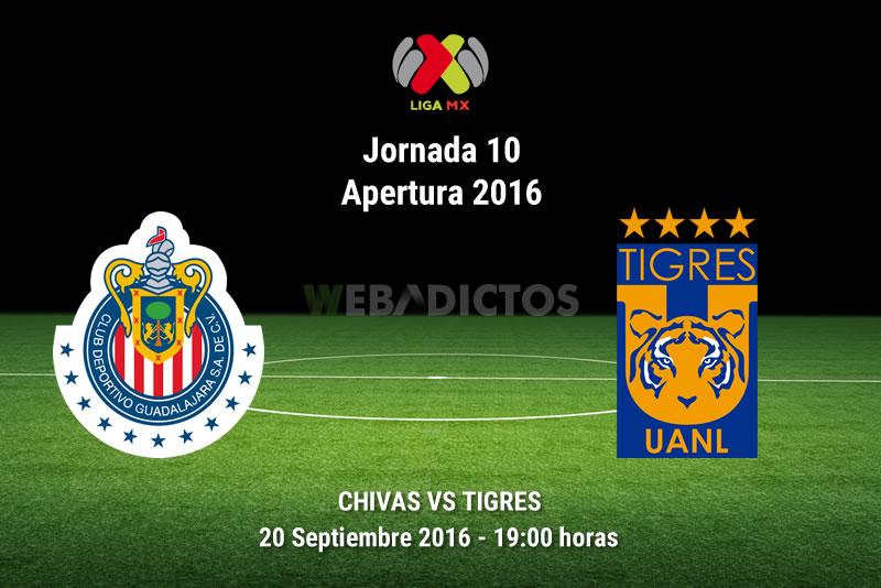 Chivas vs Tigres, J10 del Apertura 2016 | Resultado: 0-1 - chivas-vs-tigres-apertura-2016