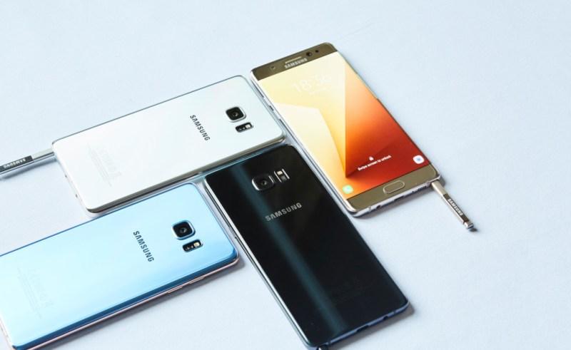 Samsung Galaxy Note 7 explota en manos de un niño de 6 años - galaxy-note-7-colors-1