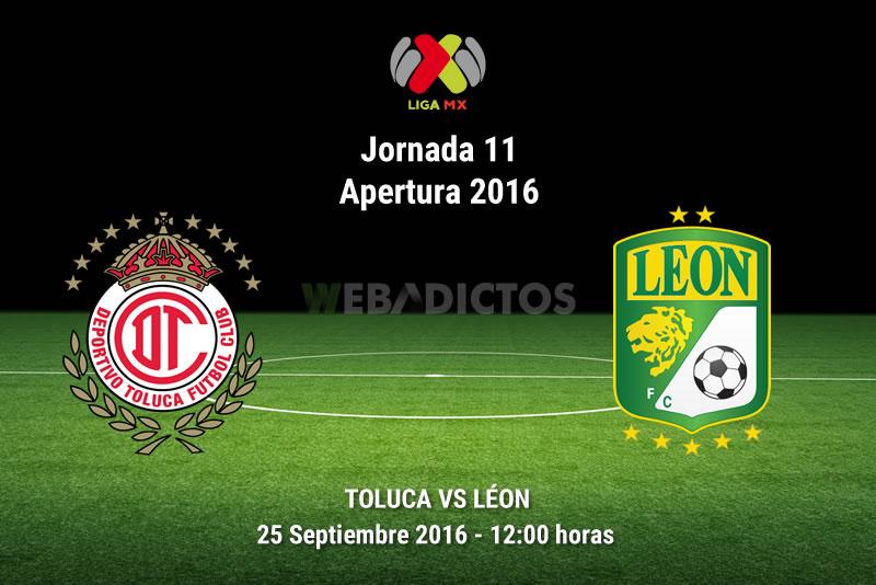 Toluca vs León, Jornada 11 del Apertura 2016   Resultado: 1-1 - toluca-vs-leon-apertura-2016