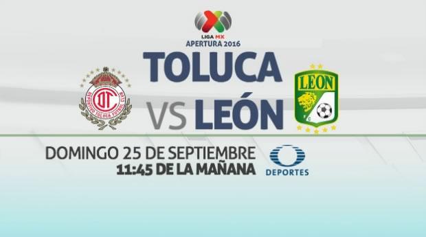 Toluca vs León, Jornada 11 del Apertura 2016   Resultado: 1-1 - toluca-vs-leon-en-vivo-j11-apertura-2016