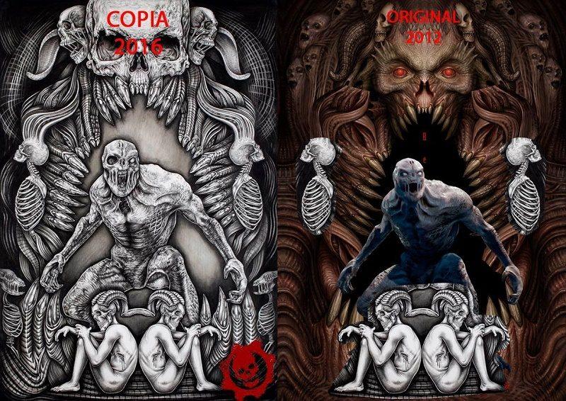 Mexicana acusada de plagio en arte para 'Gears of War 4' - b80-800x566