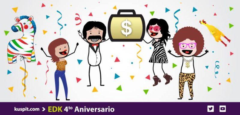 Desafío Kuspit: compites con dinero virtual y ganas dinero real - cuarto-aniversario-kuspit-desafio-800x383
