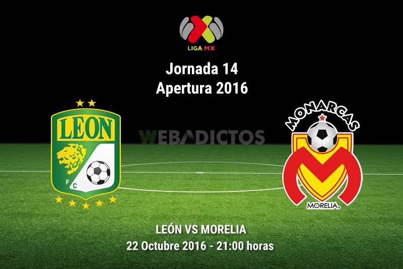 León vs Morelia, Jornada 14 del Apertura 2016   Resultado: 3-1 - leon-vs-morelia-apertura-2016