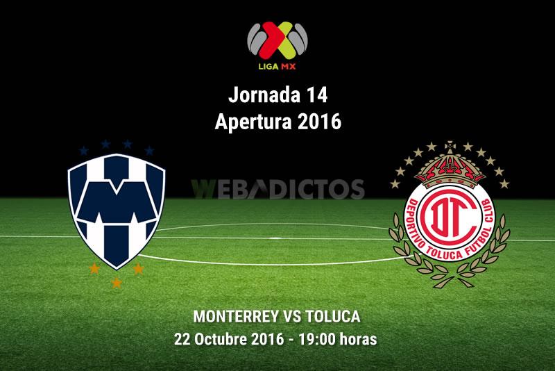 Monterrey vs Toluca, Fecha 14 del Apertura 2016   Resultado: 1-1 - monterrey-vs-toluca-apertura-2016