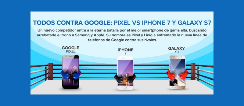 Google Pixel XL vs iPhone 7 Plus y Samsung Galaxy S7 edge ¿Cuál es el vencedor? - pixel-vs-iphone-7-vs-galaxy-s7