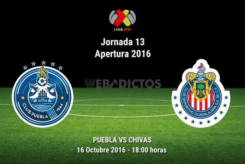 Puebla vs Chivas, Jornada 13 Apertura 2016 ¡En vivo por internet! | Liga MX - puebla-vs-chivas-apertura-2016