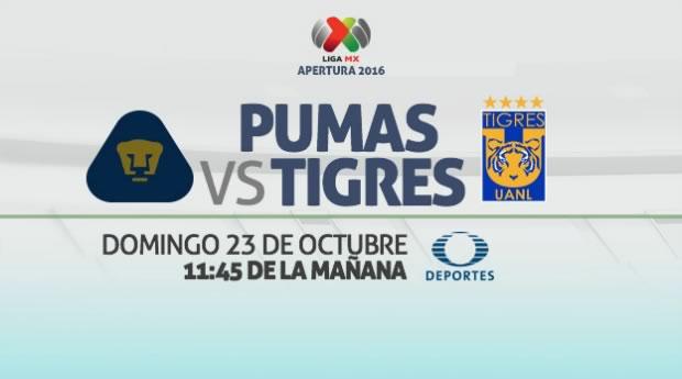 Pumas vs Tigres, Jornada 14 del Apertura 2016   Resultado: 1-3 - pumas-vs-tigres-internet-apertura-2016