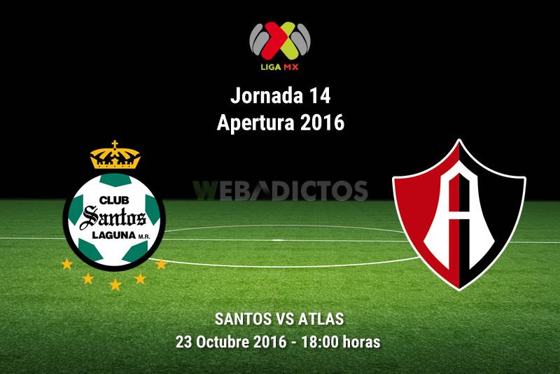 Santos vs Atlas, Jornada 14 Apertura 2016 | Resultado: 2-2 - santos-vs-atlas-apertura-2016