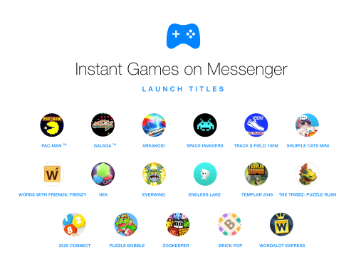 Facebook Messenger ahora incluye juegos - instant-games-facebook-messenger-titles