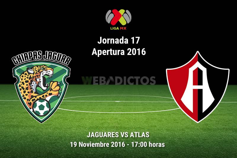 Jaguares vs Atlas, Fecha 17 del Apertura 2016 | Resultado: 1-0 - jaguares-vs-atlas-apertura-2016