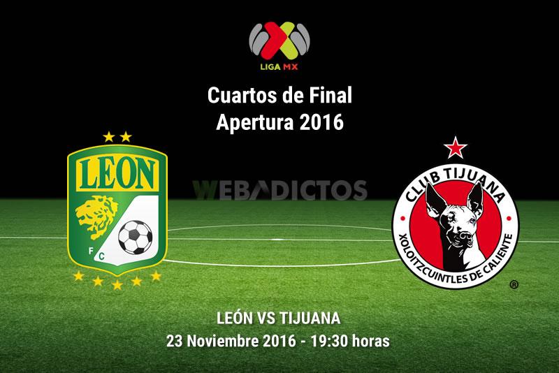 León vs Tijuana, Liguilla del Apertura 2016 | Resultado: 3-0 - leon-vs-tijuana-liguilla-apertura-2016