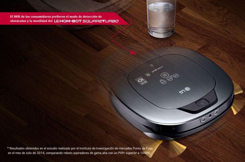 LG lanza Hombot Square Turbo: El único robot aspirador con videovigilancia - lg-hombot-robot-aspirador-deteccion-obstaculos-d