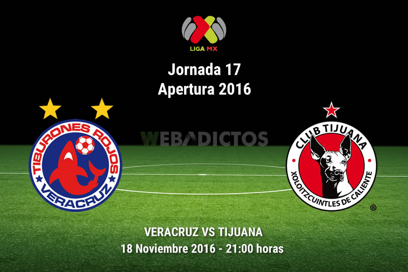 Veracruz vs Tijuana, Jornada 17 del Apertura 2016 | Resultado: 2-1 - veracruz-vs-tijuana-apertura-2016