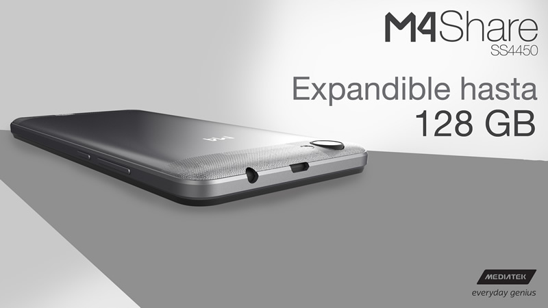 M4 y Mediatek lanzan el smartphone M4Share SS4450 4G LTE - m4share-ss4450