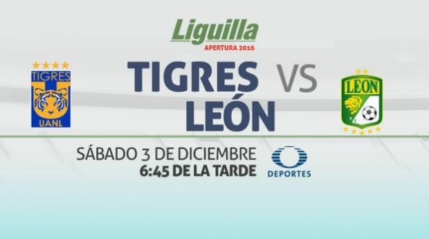 Tigres vs León, Semifinal Apertura 2016    Resultado: 2-1 - tigres-vs-leon-en-vivo-semifinal-apertura-2016