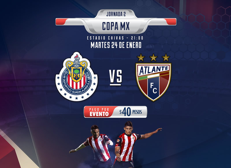 Chivas vs Atlante, J2 de Copa MX Clausura 2017 | Resultado: 1-1 - chivas-vs-atlante-copa-mx-clausura-2017-chivas-tv