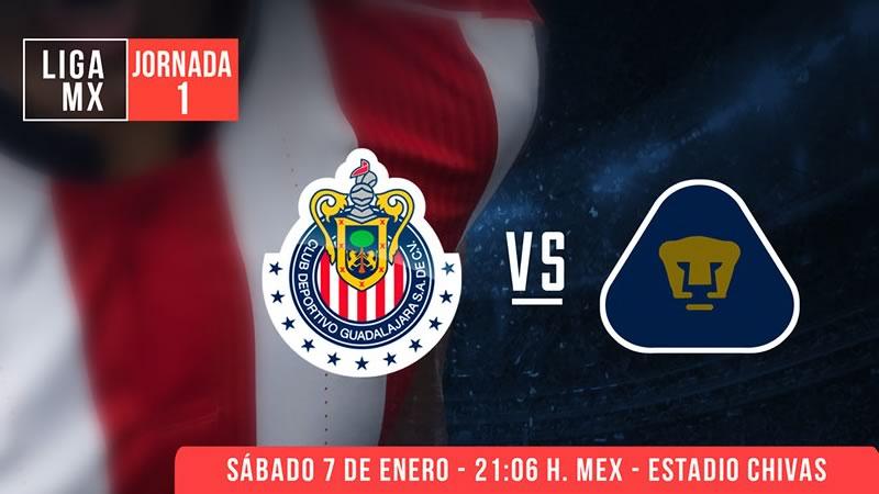 Chivas vs Pumas por Claro Video en la Jornada 1 del Clausura 2017 - chivas-vs-pumas-por-claro-video-clausura-2017