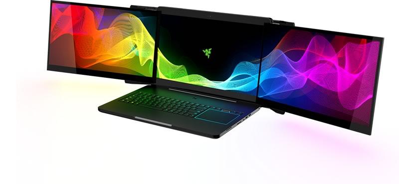 Project Valerie: la primera laptop con 3 monitores integrados - razer-project-valerie