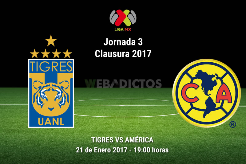 Tigres vs América, Jornada 3 Liga MX Clausura 2017   Resultado: 4-2 - tigres-vs-america-j3-clausura-2017