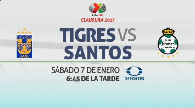tigres vs santos clausura 2017 en vivo Tigres vs Santos, Jornada 1 del Clausura 2017 | Resultado: 0 0