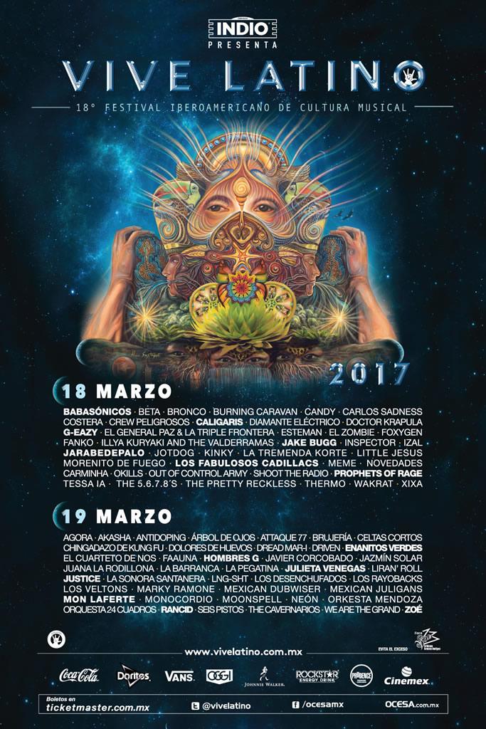 Fechas del Vive Latino 2017 y su cartel son anunciados - vive-latino-2017-cartel