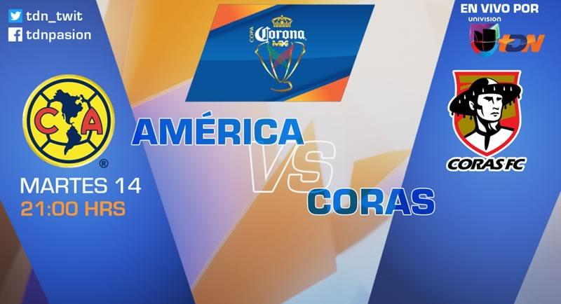 América vs Coras, J4 de Copa MX Clausura 2017 | Resultado: 1-0 - america-vs-coras-tdn-copa-mx-clausura-2017